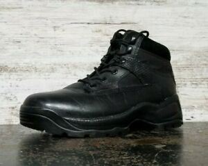 "5.11 Tactical Atac 6"" Combat Boots Sz 8 41 Used Side Zip 111012 Black Leather"