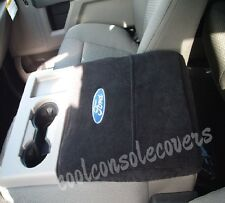 2011 - 2018 FORD F150 F250  BLACK Center Console Cover Armrest Embroidered logo