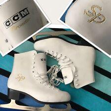 CCM PIROUETTE Ladies Ice Skates sz 10 white leather (10 1/3 blades)Great Value