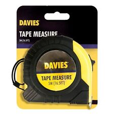 NEW DAVIES 5M PROFESSIONA DIY LOCK RULER MEASUREMENT MEASURING TAPE