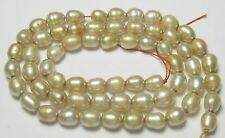 """""""SOFT CHAMPAGNE COLORED 4-5.00MM RICE SHAPED PEARL STRAND - LOVELY!"""""""
