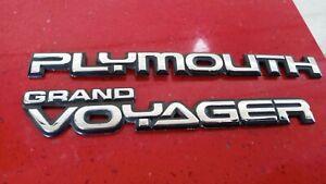 Original 1987-1988-1989-1990-94 Plymouth Grand Voyager Liftgate Emblem