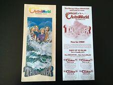 1980 AstroWorld Houston, Texas Amusement Park Brochure & Schedule/Coupons