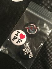 Foo Fighters Button Set Msg Pop Up Shop Nyc Jones Beach Soldout poster pin