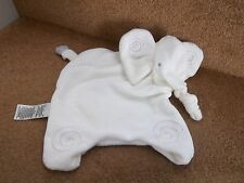 MARKS & SPENCER WHITE FLAT WITH LOVE ELEPHANT BABY COMFORTER SOFT TOY 02016634