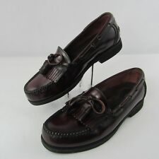 Rockport Comfort DMX Size 10 M Leather Loafers Casual Fringed Tasseled Oxblood