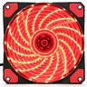 Red 120mm 15 LEDs 12V 9 Blades Ultra Silent Computer PC Cooling Case Fan Cooler