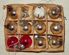 12 kleine Christbaumkugeln Christbaumschmuck Baumschmuck Glas Mundgeblasen alt