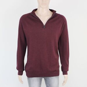 Threadbare Mens Size L XL Lightweight Burgundy Knit Pullover Jumper