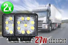 2x 27W LED WORK LIGHT OFFROAD SPOT REVERSING LAMP TRUCK BOAT BAR 12V 24V 4WD OZ