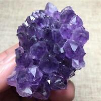 Natural Amethyst Cluster Crystal Quartz Stones Healing Rough Mineral Specimen-RO