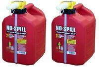 (2) No Spill 1405  2-1/2 GALLON CARB COMPLIANT GAS GASOLINE FUEL CANS