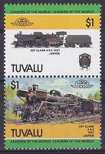 TUVALU LOCO 100 JNR CLASS C 57 LOCOMOTIVE JAPAN STAMPS MNH