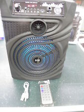 New! Singing Machine Bluetooth Karaoke System W/Led Disco Lights And Microphone