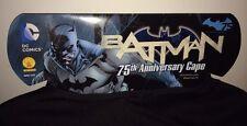 Batman 75th Anniversary Cape Mantello Rubies Adult Size DC Comics New Costume!