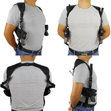 US STOCK Left Right Hand Gun Pistol Concealed Carry Double Shoulder Holster Bag