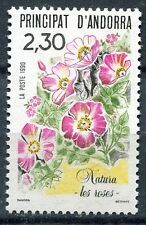 TIMBRE ANDORRE FRANCE NEUF N° 393  ** FLORE ROSES FLEUR