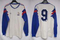 Maillot Equipe de FRANCE n°9 ADIDAS vintage ancien manches longues away shirt L