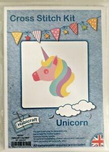 Cross stitch unicorn kit beginner habicraft