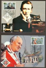 Vatican City Sc# 977-8: Centenary of Radio, 2 Maxi Cards