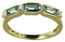 Topaz 9 Carat Eternity Yellow Gold Fine Rings