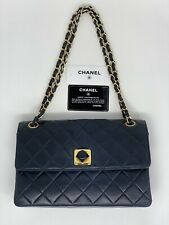 Authentic Vintage Rare CHANEL Quilted Classic Bag With Flip.
