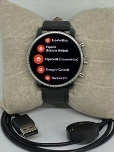Fossil Explorist HR Gen 4 FTW4016 Men's Black Leather Digital Dial Smart Watch