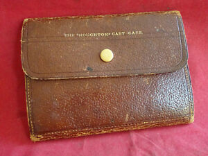 """A GOOD VINTAGE HARDY LEATHER THE """"HOUGHTON"""" CAST CASE WALLET"""