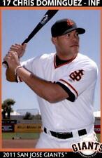 2011 San Jose Giants Grandstand #11 Chris Dominguez Miami Florida Baseball Card