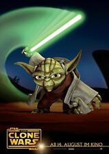 STAR WARS: THE CLONE WARS Movie POSTER 11x17 German B Created by George Lucas