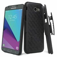Samsung Galaxy J7v, J7 Prime (2017) Slim Slide Hard Shell Belt Clip Holster Case