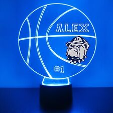 Georgetown Hoyas College Basketball Light Up,Personalized FREE, Sports Fan Lamp