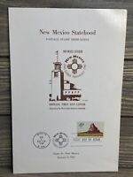 Vintage Program New Mexico State Golden Anniversary Stamp Issue Ceremony 1962