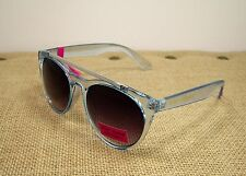 Betsey Johnson Top It Off Shades Blue Frame Silver Tone Sunglasses #14 MSRP $60
