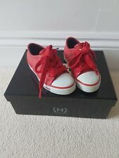 Hunter classic Milbank sneaker/trainer wellie shoes UK 7 kids RED worn once