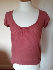 Kookai Red/Grey Striped Top S.3 (12)