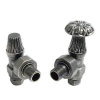 Abbey Traditional Manual Tap Valve Set/Pair For Cast Iron Radiators