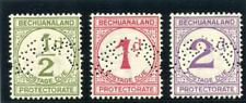 Bechuanaland 1932 KGV Postage Dues Specimen set complete MLH. SG D4s-D6s.