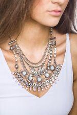 Collar de Declaración Indio inspirado Multi Encadenado Colgante Estilo De Moda De Joyería