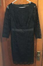 The Limited Black Lace Dress Size 10 knee length