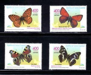 Guinea Equatorial 2000 267/70 Butterflies 4v