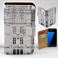 For Samsung Galaxy Series - Vintage Building Theme Print Mobile Phone Case Cover