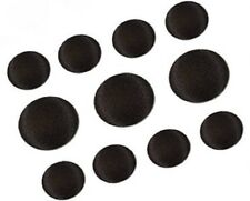 11Pcs Tuxedo Suit Buttons Set, Black Smooth Satin Covered Shank Buttons