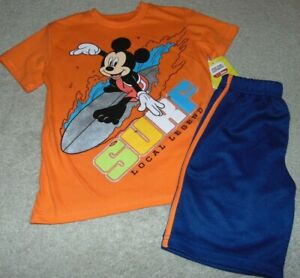 ~NWT Boys DISNEY'S MICKEY MOUSE Surfing Outfit! Size 7 Super Cute:)!