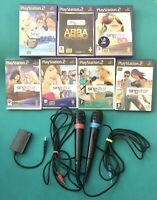 Singstar Microphones And Games Bundle PlayStation 2 PS2, PS3- 7x Games Included