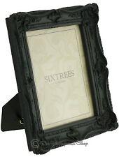 "Shabby & Chic Vintage Ornate Matt Black Photo frame for an 8""x6"" Picture"