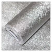 PVC Silver Metallic Wallpaper Peel & Stick Glitter Shinny For Bedroom 25.7sq.ft