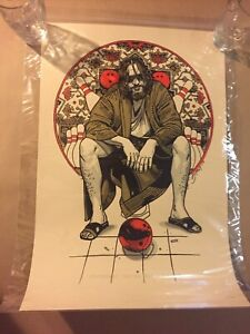 "WonderCon 2019 Excl The Big Lebowski ""THE DUDE"" Tyler Stout LE 400 Art print"