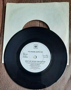 "FRANK ZAPPA SHUT UP N PLAY YER GUITAR EP 1981 LIVE 1979 7"" SINGLE"
