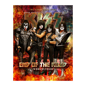 """Rock Band Poster Wall Deco. Kiss The end of the road 24"""" x 36"""""""